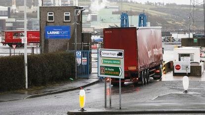 El puerto de Lane, en Irlanda del Norte, el pasado 2 de febrero.