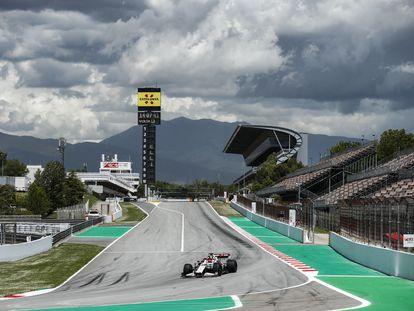Pruebas del Gran Premio de Fórmula 1 en el circuito de Montmeló, este martes.