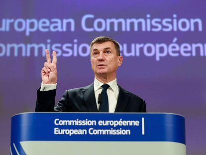 El vicepresidente de la Comisión Europea Andrus Ansip.