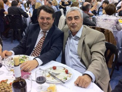 Xavier Solà, a la izquierda y Josep Maria Matas
