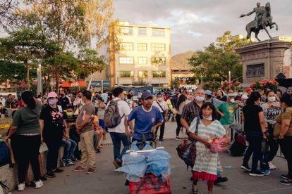 Vista del centro de la capital de El Salvador este miércoles.