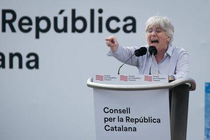 La eurodiputada Clara Ponsatí, en un acto independentista en Perpiñán.