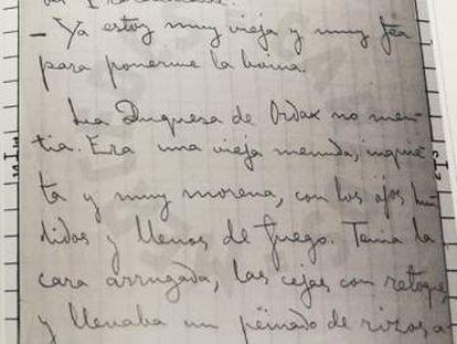 Reproducción del manuscrito 'Una tertulia de antaño', de Valle-Inclán.