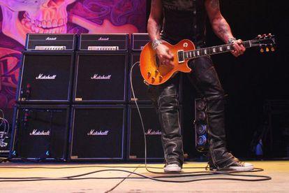 Los amplificadores Marshall en un concierto de Slash en Hong Kong en 2011.