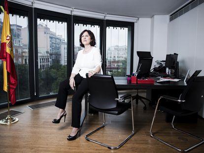 Teresa Peramato, fiscal de violencia contra la mujer, el pasado martes en su despacho.