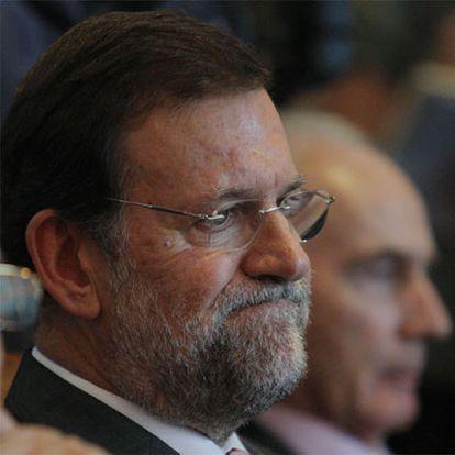 Mariano Rajoy, en la conferencia de María Dolores Cospedal en el Club Siglo XXI.
