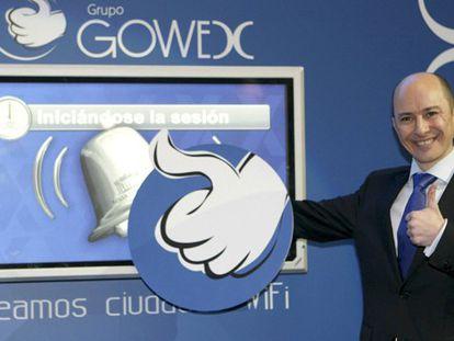 El fundador de Gowex el día que la compañía salió a bolsa.