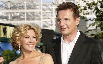 Liam Neeson y su mujer, Natasha Richardson.
