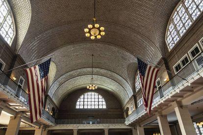 Estación de inmigración de Ellis Island (1918), en Nueva York. |