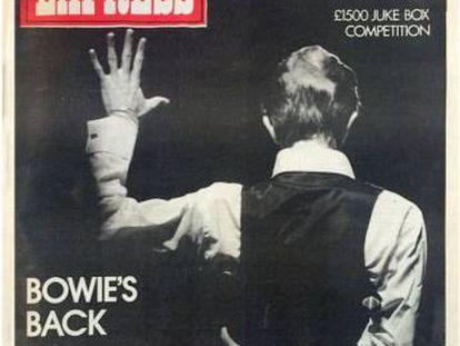 Portada de NME dedicada a David Bowie en 1976.