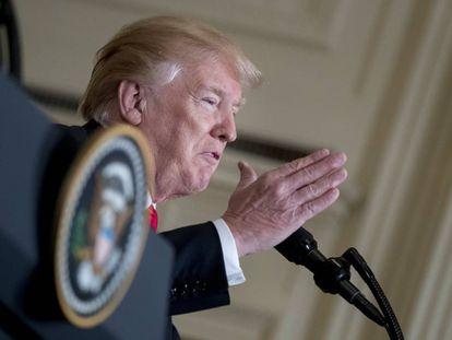 Trump, este martes en la Casa Blanca