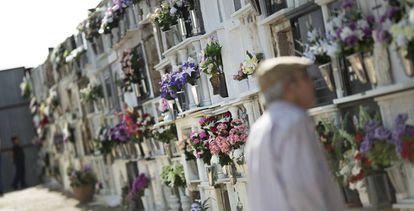 Tumbas del cementerio de Aznalcóllar (Sevilla).