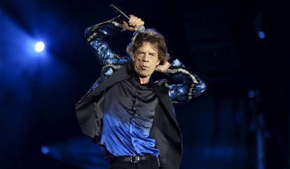 Mick Jagger, en un concierto de Rolling Stones el pasado febrero.