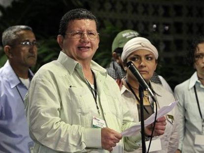 El guerrillero de las FARC Pablo Catatumbo en La Habana.