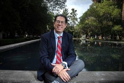 Juan Carlos Baker, en el Parque Lincoln Ciudad de México.