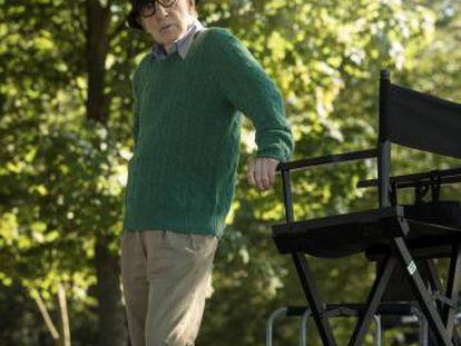 Woody Allen, durante el rodaje en San Sebastián.