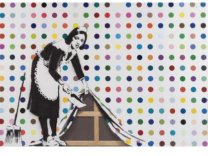 'Keep It Spotless' de Damien Hirst y Banksy.