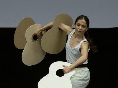 La bailaora y coreógrafa Olga Pericet, durante un ensayo de la obra 'La tienta de La Leona'.