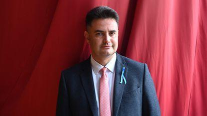 Péter Márki-Zay el pasado 31 de agosto en Godollo, Hungría.
