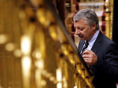El exministro de Fomento, José Blanco, en el Congreso.
