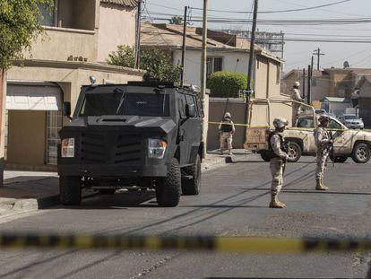 Un narcolaboratorio perteneciente al CJNG fue decomisado en Tijuana.