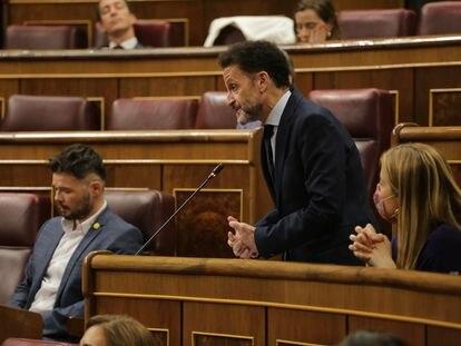 El portavoz adjunto de Ciudadanos en el Congreso de los Diputados, Edmundo Bal, interviene durante la sesión de control al Gobierno en el Congreso de los Diputados.
