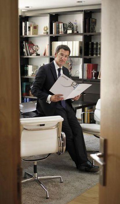 Alberto Núñez Feijóo, el pasado viernes en su despacho de la Xunta.