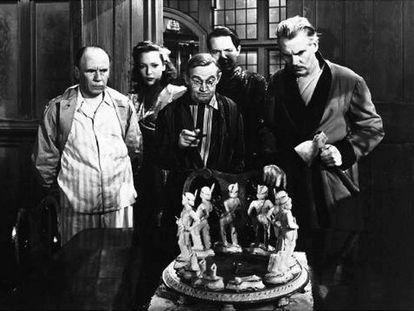 Fotograma de la película 'Diez negritos' (1945).