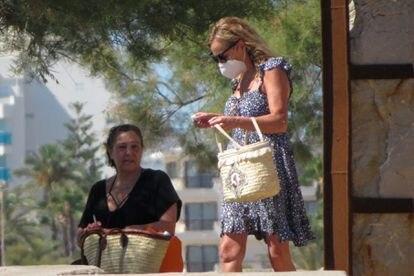 La actriz Ana Obregón, a principios de julio en Mallorca.