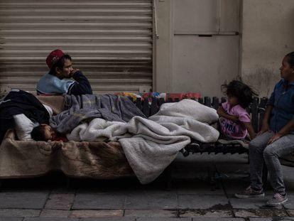 Una familia pobre, en la Ciudad de México.