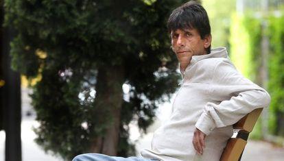 Saturnino Cobo, enfermo de hepatitis C, en Getafe (Madrid).