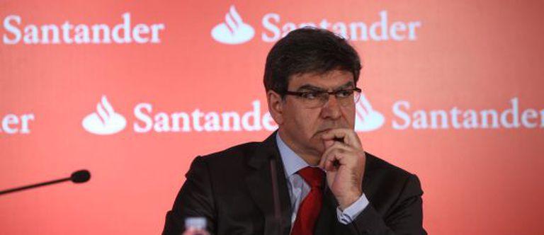 El consejero delegado del Banco Santander, Jose Antonio Álvarez, en la presentación de resultados del primer trimestre.