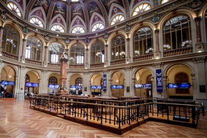 Vista general de la Bolsa de Madrid.