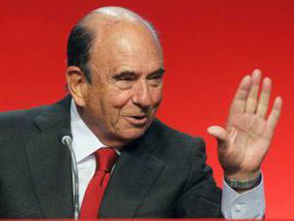 El presidente del Banco Santander, Emilio Botín. EFE/Archivo