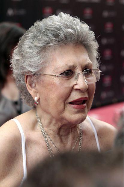 La actriz Pilar Bardem, madre de los actores Javier y Carlos, tía de Miguel y hermana del director Juan Antonio Bardem, ha acudido a la inaguración del Paseo de la Fama de Madrid.