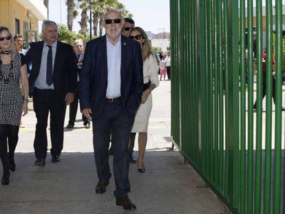 El fiscal general del Estado, José Manuel Maza, en su visita a Melilla.