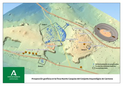 Geophysical prospecting in the Archaeological Ensemble of Carmona.