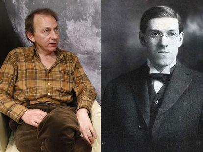 Michel Houellebecq (izquierda) y H. P. Lovecraft.
