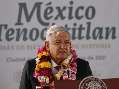 El presidente Andrés Manuel López Obrador, en mayo.