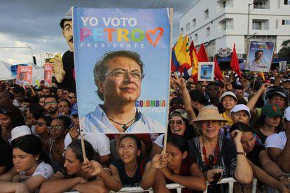 Acto de campaña de Gustavo Petro en Colombia.