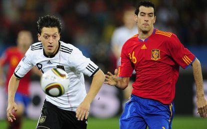 Özil, durante las semifinales del Mundial de Sudáfrica de 2010.