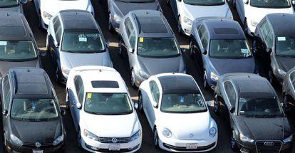 Vehículos del grupo Volkswagen en California.