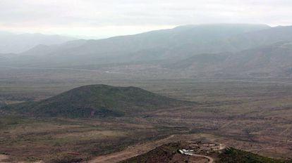 Paraje en el que se levantaría la mina Dominga, en la Comuna de La Higuera.