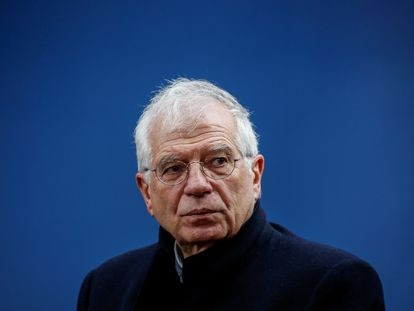 El jefe de la diplomacia europea, Josep Borrell, durante una cumbre en Bruselas, el mes pasado.