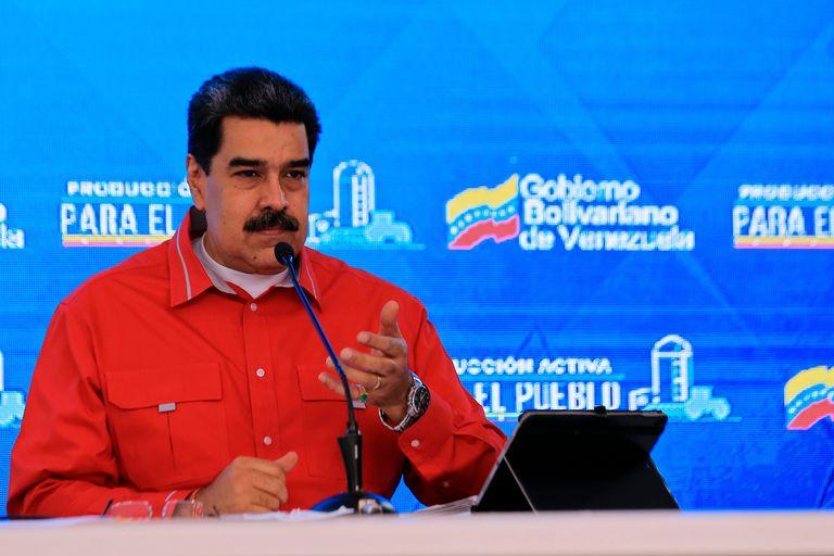 Venezuelan President Nicolás Maduro during a televised appearance.