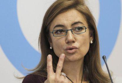 Marta Fernández Currás, durante la presentación de los presupuestos de 2011.