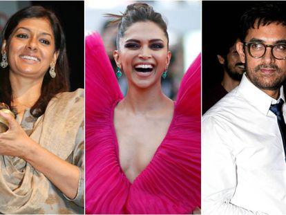 Nandita Das, Deepika Padukone y Aamir Khan.