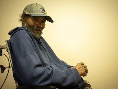 Charles Thomas, este lunes en la residencia de discapacitados en Amarillo, Texas, donde vive.