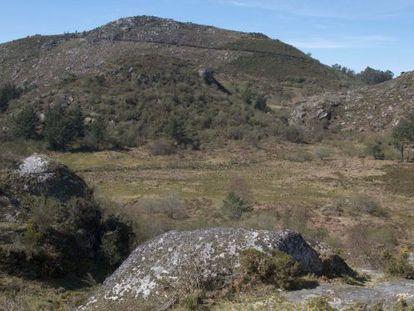 Área de la Serra do Suído, en Covelo, donde se ubicaría la mina.