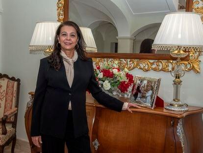 Karima Benyaich, embajadora del Reino de Marruecos en España, en su residencia oficial en Puerta de Hierro.